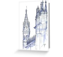 towers .  monastery Greeting Card