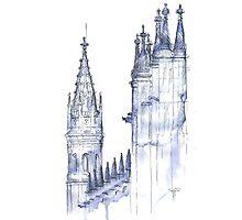towers .  monastery Photographic Print