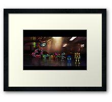 Super Metroid pixel art Framed Print