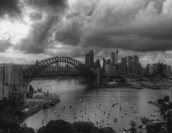 Sydney- AStudy In Black & White - The HDR Experience by Philip Johnson