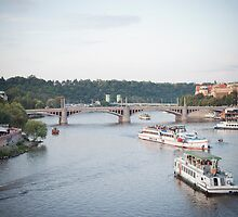 Prague. Moldava river by asaphus