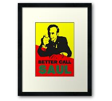 Better Call Saul (Red/Yellow) Framed Print