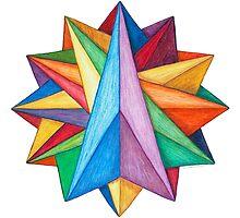 Crystalite Mandala Print by TheMandalaLady