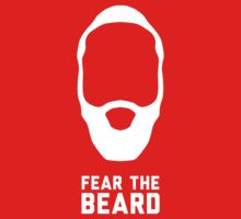 James Harden - Fear The Beard (NBA Houston Rockets) - White by gsic