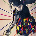 Paper dress collage 2 by Sophie Higgins