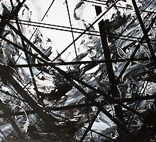 Wired Abstract Painting by MallorieMae