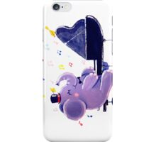 Piano Player - Rondy the Elephant playing the piano iPhone Case/Skin