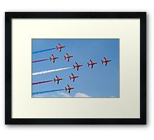 Concorde - The Red Arrows - Dunsfold 2013 Framed Print