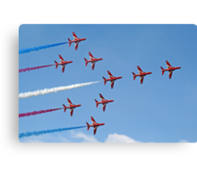 Concorde - The Red Arrows - Dunsfold 2013 Canvas Print