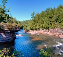View From Atop Swallow Falls by Gene Walls