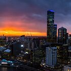 Sunset over Melbourne by charlottegoss