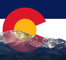 Pikes Peak Colorado Flag by emilycl88