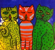 Three Kitties by Terri Holland by Terri Holland