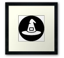 Halloween Witch Hat Ideology Framed Print