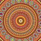 Mandala Aztec Pattern by Maximilian San