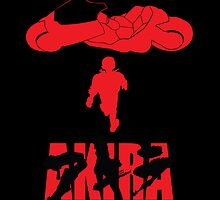Akira Red on Black by Erick Smith