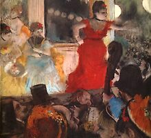 Edgar Degas French Impressionism Oil Painting Cafe Concert by jnniepce