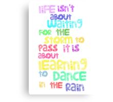 Dance In  The Rain Canvas Print