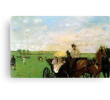 Edgar Degas French Impressionism Oil Painting Horse Buggy Canvas Print