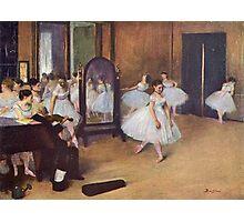 Edgar Degas French Impressionism Oil Painting Ballerinas Rehearsing Photographic Print