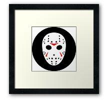 Halloween Hockey Mask Jason Friday 13th Ideology Framed Print