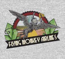 Wizard of Oz Inspired - Flying Monkey Airlines - Flying Monkeys - Airline Parody Design - OZ  by traciv