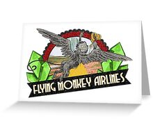Wizard of Oz Inspired - Flying Monkey Airlines - Flying Monkeys - Airline Parody Design - OZ  Greeting Card