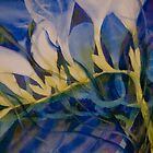 Watercolour: Freesias in Cobalt by Marion Chapman