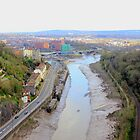 Arial view of Bristol City with River, Rail and road together by Arvind Singh