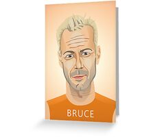 Bruce Willis, Hollywood star in The Fifth Element  Greeting Card