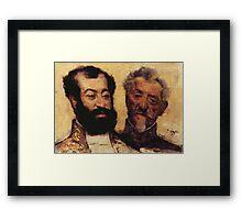 Edgar Degas French Impressionism Oil Painting Bearded Men Framed Print