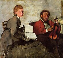 Edgar Degas French Impressionism Oil Painting Violin by jnniepce