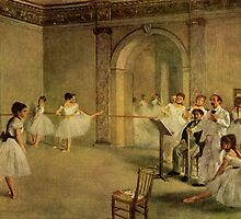 Edgar Degas French Impressionism Oil Painting Dance School by jnniepce