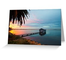 Ahh... The Serenity... Crawley Boat Shed at Sunrise Greeting Card