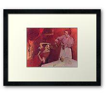 Edgar Degas French Impressionism Oil Painting Brushing Hair Framed Print