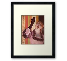 Edgar Degas French Impressionism Oil Painting Woman Singing Framed Print