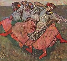 Edgar Degas French Impressionism Oil Painting Women Dancing by jnniepce