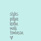 One Direction Last Names by judymoy