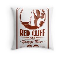Red Cliff Ale Throw Pillow