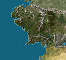 Map of Middle-Earth by Desdemoli