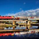 Breakwater train bridge by Barry Feldman