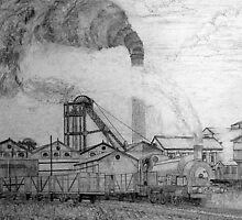 Frickley Colliery in the West Riding of Yorkshire in the early 1920s by Dennis Melling