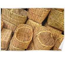 Pile of Baskets Poster