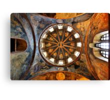 One of the domes in Chora church Canvas Print