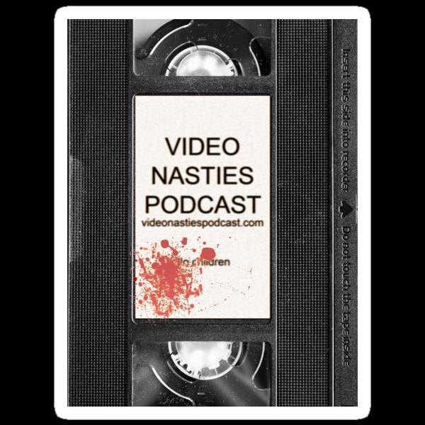 Video Nasties Podcast VHS Label by anorangemonkey