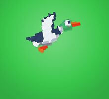 8-Bit Duck - Green by nellyb