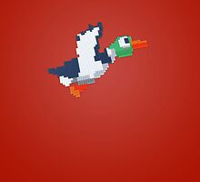8-Bit Duck - Red by nellyb