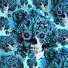 Blue grunge ohm skull.  by KristyPatterson