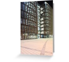 Modern architecture at night Greeting Card