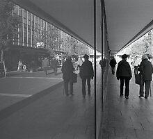 Stevenage Town Centre, reflected by Trevor Coultart